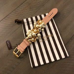 NWT Henri Bendel Floral Pearl Bracelet